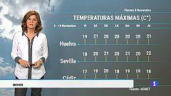 El tiempo en Andalucía - 08/11/19