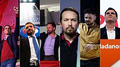 Sánchez, Casado, Abascal, Iglesias, Rufián y Rivera valoran los resultados del 10N