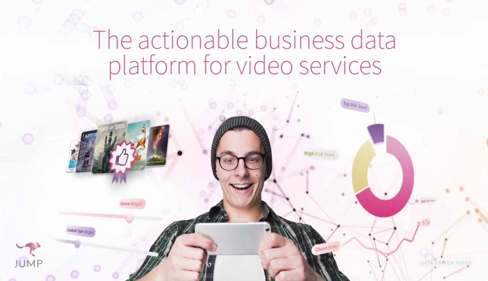 Jump TVS es una startup que ofrece a la industria audiovisual servicios de analítica avanzada para influir en la satisfacción de los clientes de servicios de video