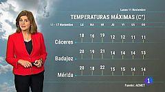 El tiempo en Extremadura - 11/11/19
