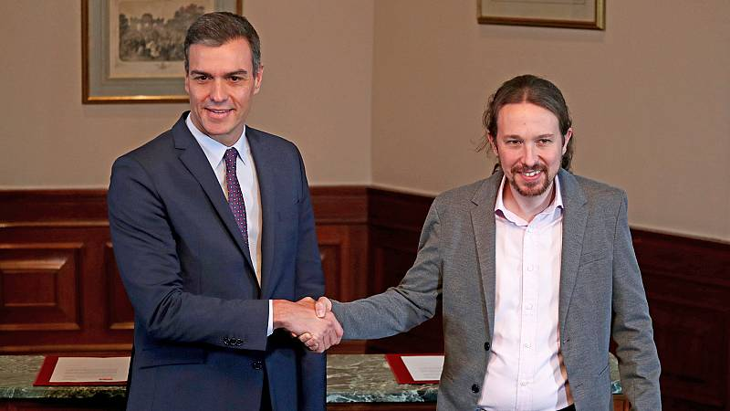 """Sánchez e Iglesias cierran un preacuerdo para un """"Gobierno progresista de coalición"""""""