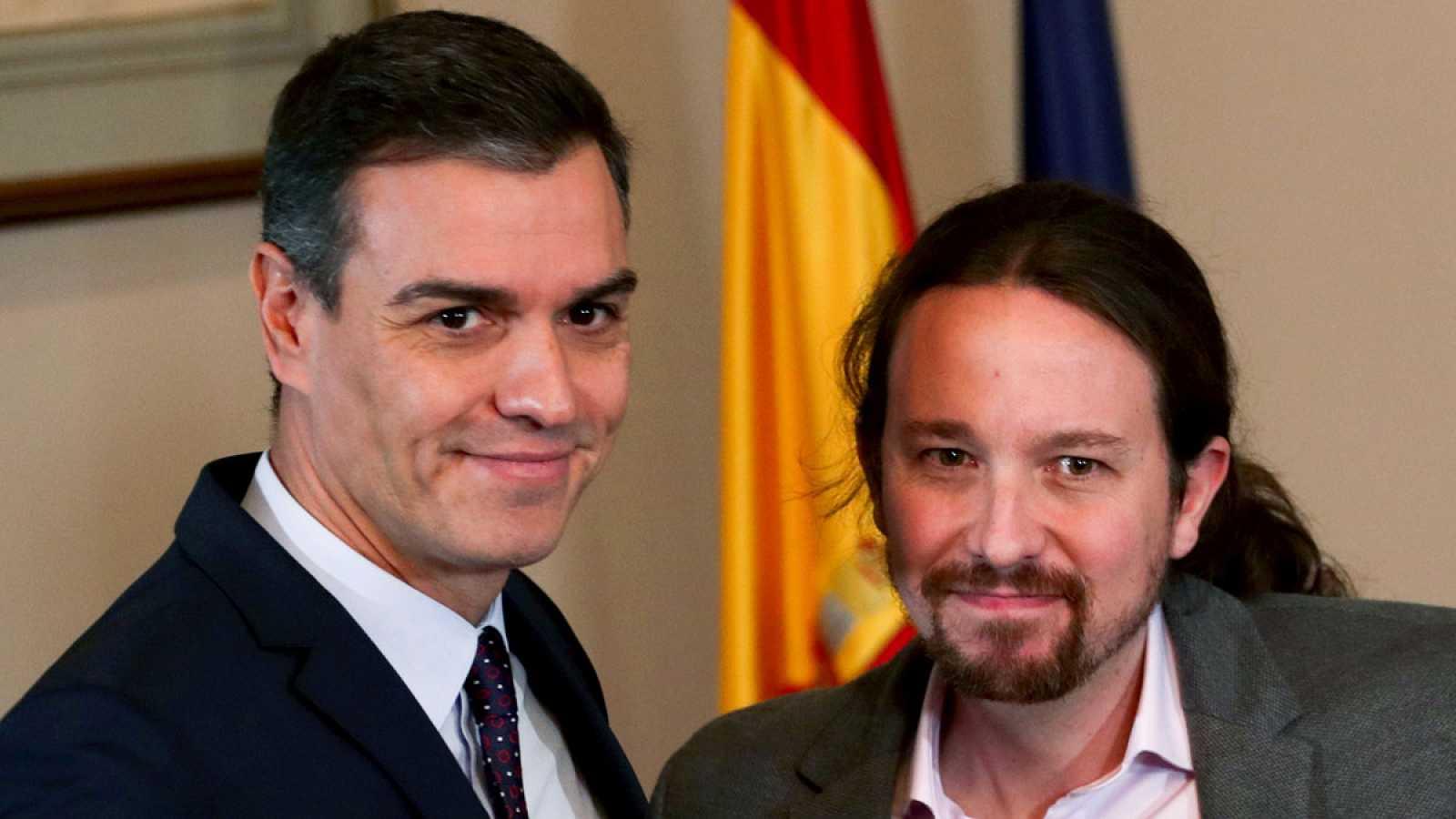 Sánchez e Iglesias: de la desconfianza mutua al abrazo