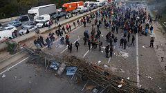 Cientos de personas siguen atrapadas en la AP-7, en Girona, por la protesta contra la sentencia del 'procés'