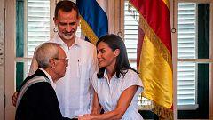 Los reyes muestran su apoyo a los empresarios españoles en Cuba