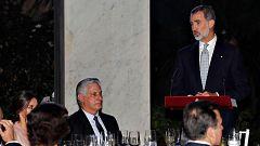El rey defiende la democracia en un discurso ante el presidente de Cuba