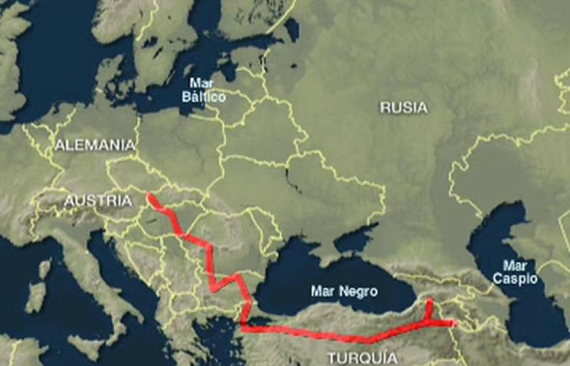 """Uno de los retos de la Unión Europea para los próximos años es acabar con la dependencia energética . Gran parte del suministro de gas que utilizamos en Europa procede de Rusia . El  gasoducto """"Nabucco"""" quiere convertirse en la nueva alternativa."""