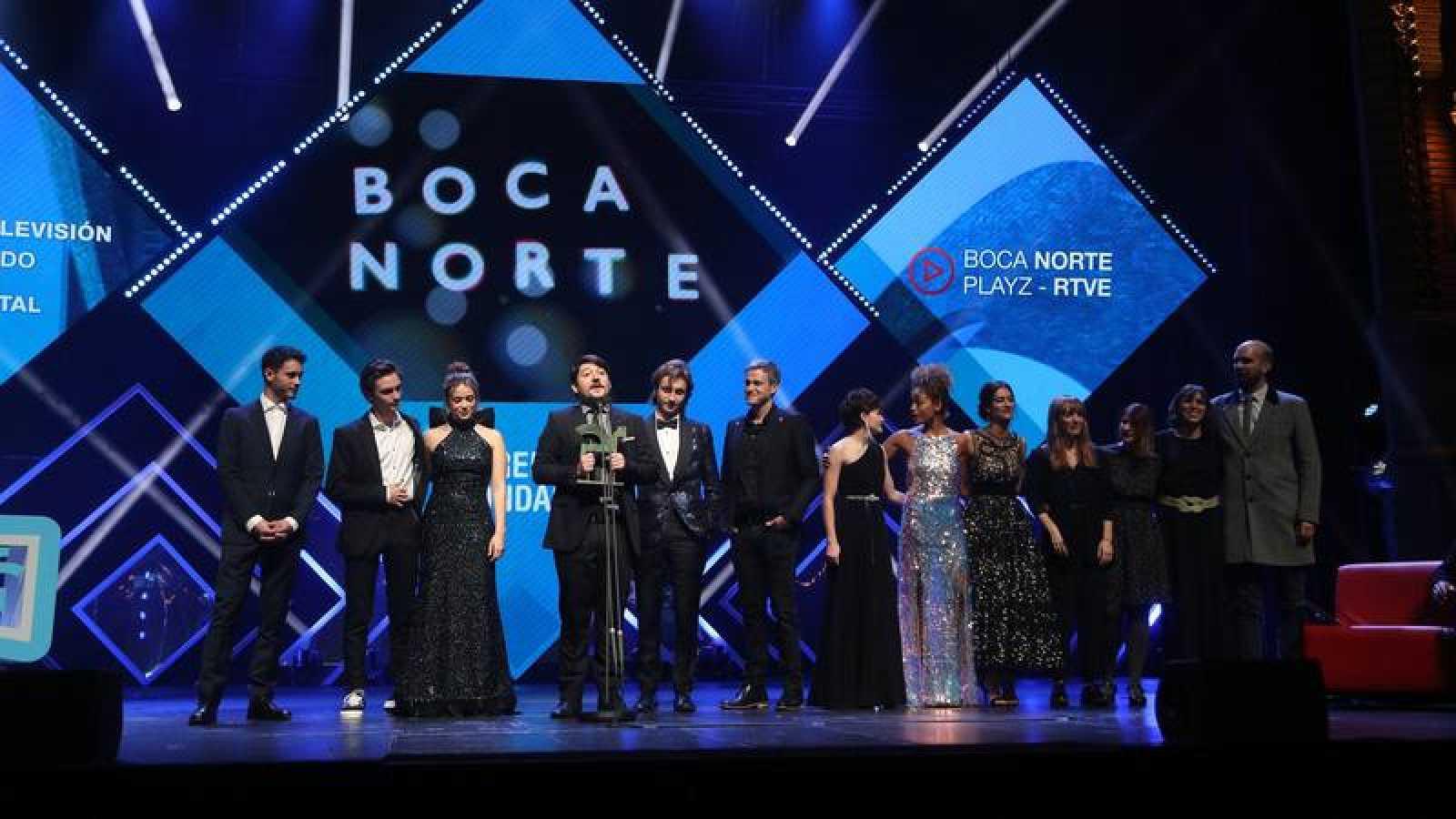 Boca Norte - Playz y el equipo de 'Boca Norte' recogen el Premio Ondas 2019
