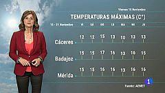 El tiempo en Extremadura - 15/11/19
