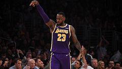 LeBron James lleva a los Lakers a lo más alto