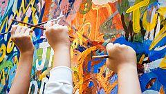Niños madrileños reivindican la importancia del arte en la educación dibujando obras de pintores españoles