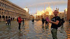 La frecuencia y la altura de las mareas en la laguna de Venecia este otoño es insólita