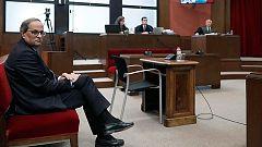 """Torra admite que """"desobedeció"""" la orden de la Junta Electoral de retirar los lazos amarillos por """"ilegal"""""""