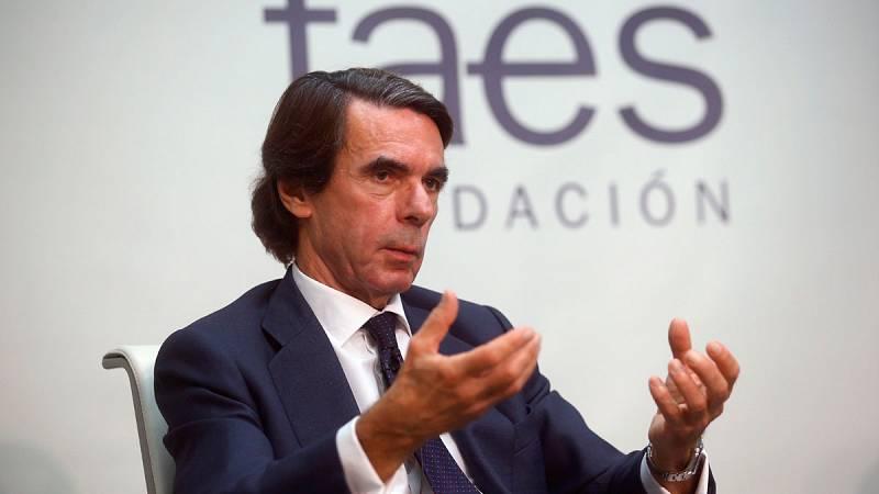 Aznar pide una alianza de partidos constitucionales sin Pedro Sánchez