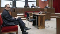 """Torra admite que """"desobedeció"""" la orden de retirar los lazos por """"ilegal"""" y se declara víctima de un """"juicio político"""""""