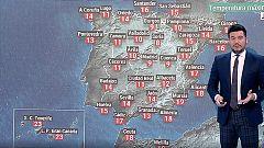 Jornada lluviosa, sobre todo en el suroeste peninsular, y las temperaturas se suavizan aunque continúan siendo bajas