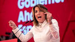 """Susana Díaz pide """"perdón"""" a los andaluces tras la sentencia de los ERE y se desmarca: """"Yo no estaba"""""""