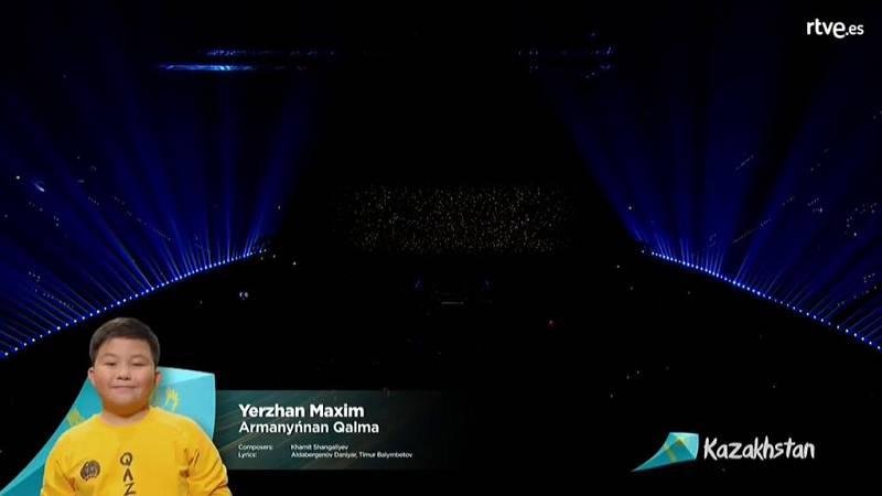 """Eurovisión Junior 2019 - Yerzhan Maksim de Kazajistán canta """"Armanynnan Qalma"""""""