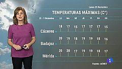 El tiempo en Extremadura - 25/11/19