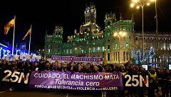 Decenas de miles de personas recorren las calles de España en contra de la violencia machista