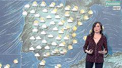 Lluvias en la mitad norte peninsular con rachas de viento de hasta 100 km/h en el oeste