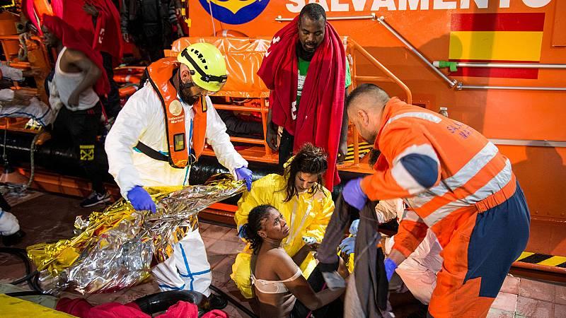 Cuatro muertos y una decena de desaparecidos en el naufragio de una patera en Melilla