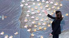 Lluvias en la mitad norte peninsular y viento fuerte en áreas montañosas