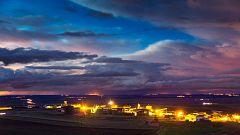 Cielo nuboso o cubierto en la mayor parte de la península