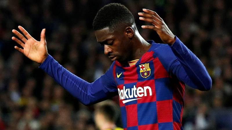 """El delantero del FC Barcelona Ousmane Dembélé tiene para 10  semanas de baja después de la lesión que sufrió el miércoles en Liga  de Campeones contra el Borussia Dortmund, y que confirmó el club este  viernes como """"una lesión muscular en el bíceps f"""
