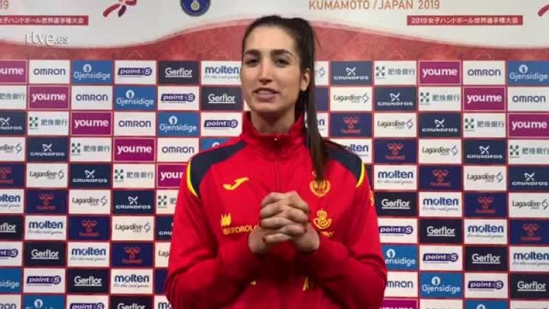 La jugadora española analiza el partido ante Rumanía con el que España ha debutado en el Mundial de balonmano femenino de Japón 2019.