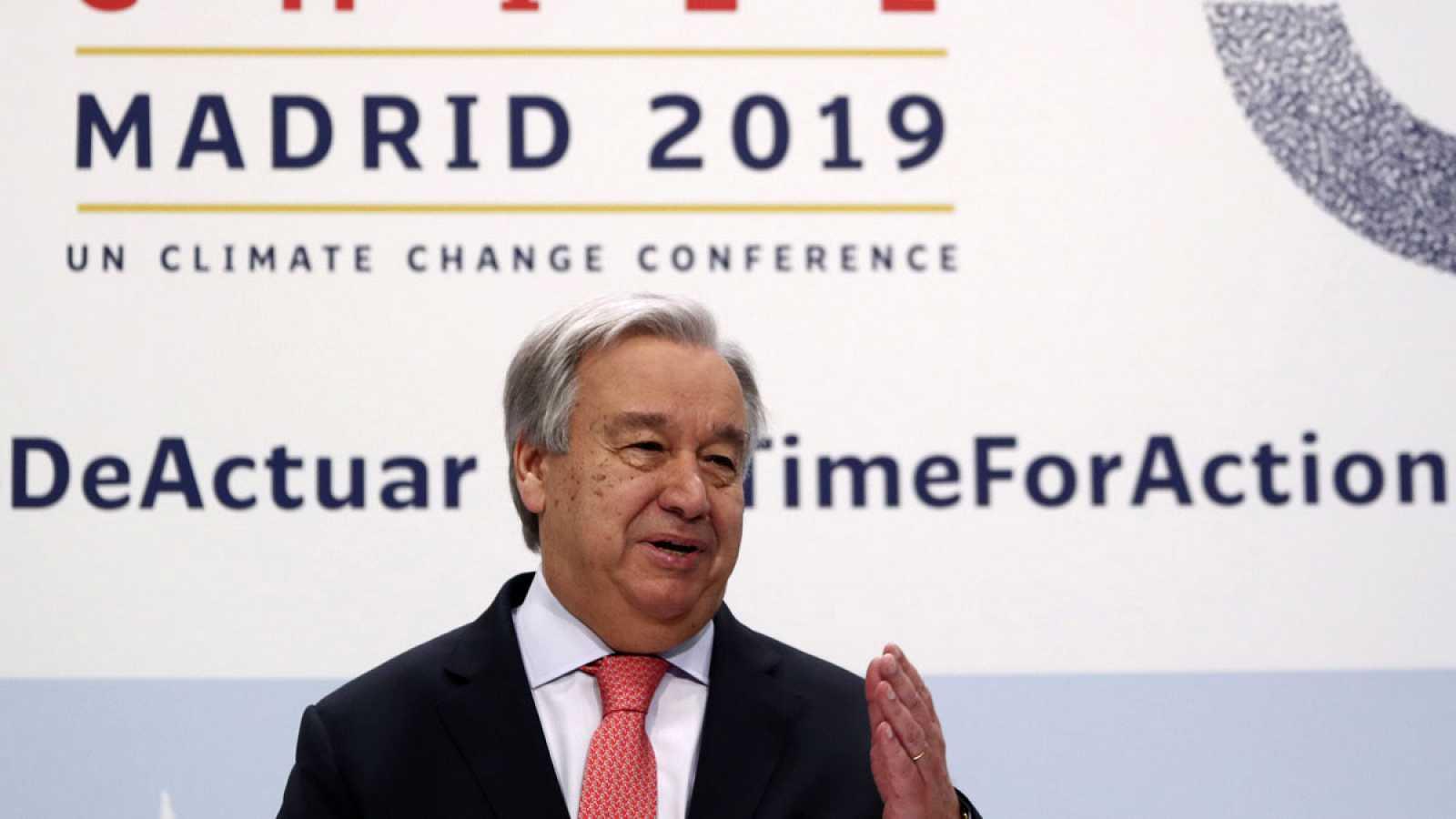 """Guterres advierte que la crisis climática """"se nos echa encima"""" y pide mayor compromiso a los países que más emiten"""