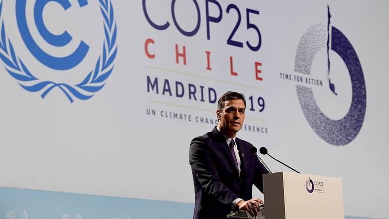 """Sánchez, en la inauguración de la Cumbre del Clima: Quienes """"niegan la evidencia"""" del cambio climático son """"fanáticos"""""""