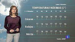 El Tiempo en Extremadura - 02/12/19