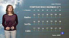 El tiempo en Andalucía - 02/12/19