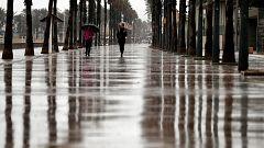 Viento fuerte en el litoral de Galicia, Ampurdán, Baleares y litorales del sureste peninsular