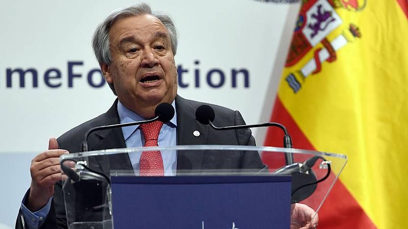 """Guterres pide """"completar la regulación"""" de los mercados de carbono y más """"compromisos"""" en la acción climática"""