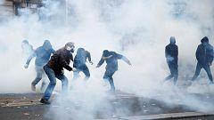 Primeros incidentes en París durante la huelga contra la reforma de las pensiones