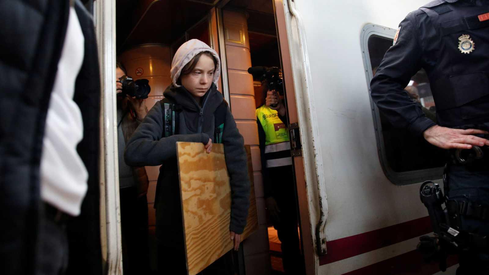 Greta Thunberg llega a Madrid para participar en la Cumbre del Clima