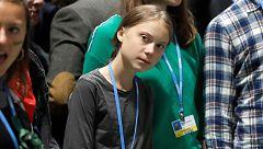 Greta Thunberg llega a Madrid y visita por sororesa la Cumbre del Clima