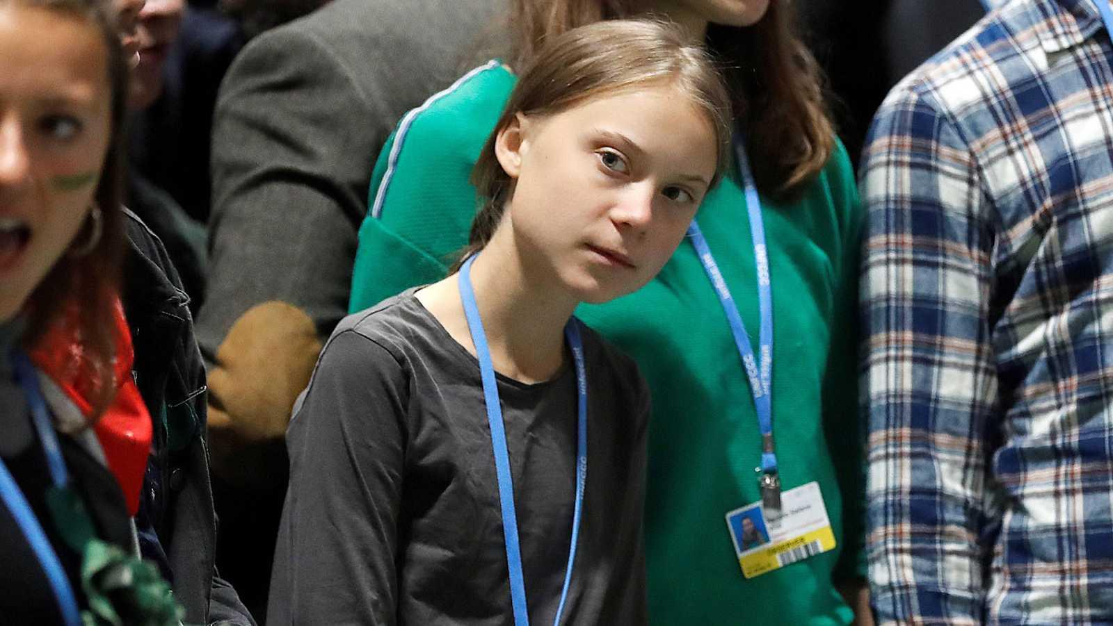 Greta Thunberg llega a Madrid y visita por sorpresa la Cumbre del Clima