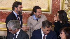 Distendida charla entre Iglesias, Espinosa de los Monteros y Arrimadas