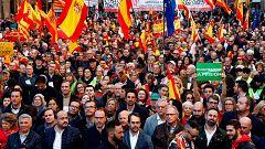 Cs se desmarca de la marcha constitucionalista de Barcelona por una pancarta contra la ley de violencia de género
