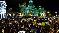 Multitudinaria marcha contra el cambio climático en Madrid