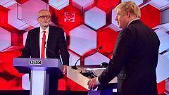 La batalla por el 'Brexit' domina el último cara a cara electoral entre Johnson y Corbyn