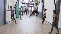 Bungee, gimnasia con arnés
