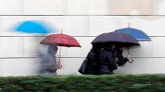 Precipitaciones en el tercio norte peninsular por la llegada de un nuevo frente