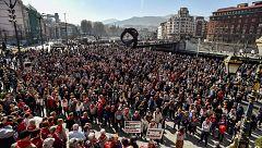 Los jubilados alcanzan 100 semanas de concentraciones en Bilbao por el futuro de las pensiones