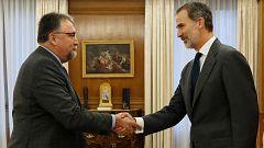 El rey inicia con el representante de Foro Asturias la ronda de consultas para designar candidato a la investidura