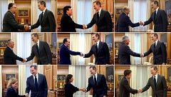 Seis de los nueve partidos minoritarios del Congreso trasladan al rey su postura favorable a investir a Sánchez