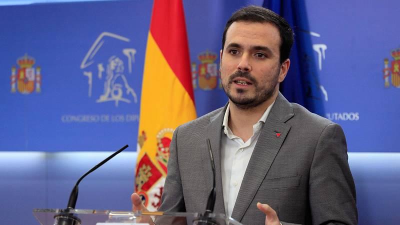 """Garzón dice que faltan """"algunos flecos"""" de la negociación entre el PSOE y ERC y pide """"paciencia"""""""