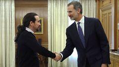 """Pablo Iglesias: """"Le he explicado al rey que somos prudentes pero optimistas"""""""